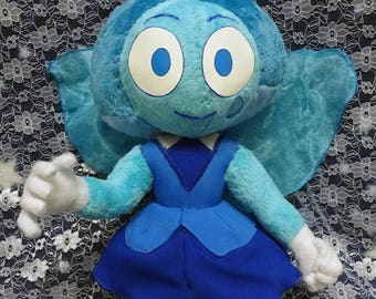 Steven Universe inspired 30 cm (life size?) tall Aquamarine full poseable art doll plush. Customizations are welcome!