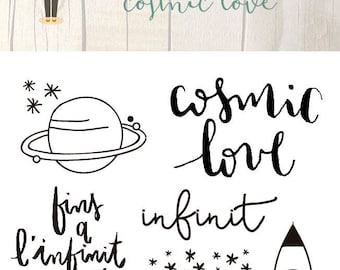 Clear Scrapbooking Stamp COSMIC LOVE in Catalan