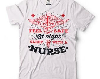 Nurse T-Shirt Gift For Nurse Funny Birthday Gift Tee Shirt Occupation T-Shirt