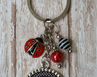 Personalized Ladybug Keychain - MESSAGE ME Name - Great Gift Idea or Treat Yourself!  Image Shown is Example - Can Use Any Name