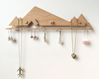 Jewelry Organizer (with standoffs) | Jewelry Storage | Jewelry Display | Jewellery Holder | Earring Holder | Earring rack | Necklace rack