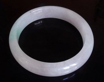 "Certified Lavender Jadeite bangle ""翡翠"" icy  grade A certified"
