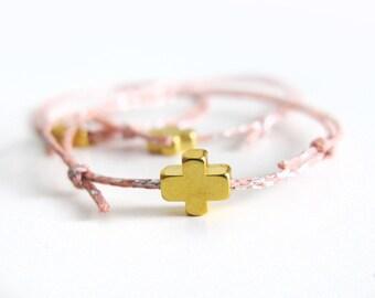 Favor Bracelets for Girls, Martyrika  20pcs, Wedding Party Favors, Pink Gold First Communion Favors, Baptism Favors, Christening Favors