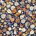 Shells Fabric Fat Quarter, Third Yard, Half Yard, or By-The-Yard; 25833N - Navy; Quilting Treasures; Ocean Oasis; Sea Shells