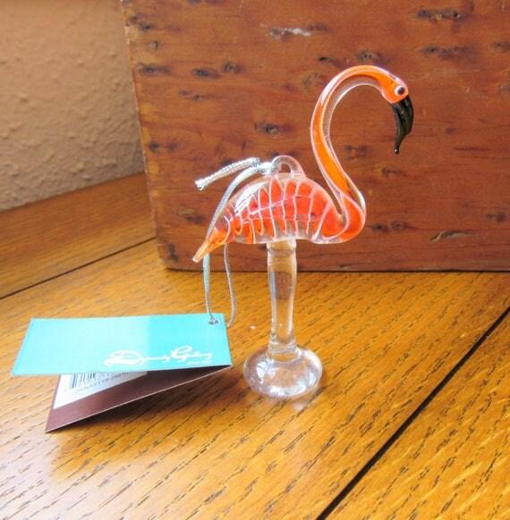 Glassdelights Flamingo Ornament In Original Box