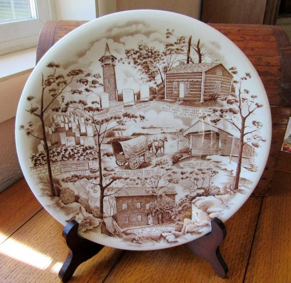 Johnson Bros Pennsylvania German Folklore Society Plate