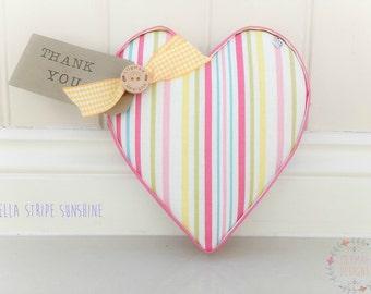 Lilymae Designs Handmade Fabric Hearts WITH TAG - Weddings - Bedrooms - Nurseries - Home - Thank You - Dinner Party - Mothers Day - Teacher