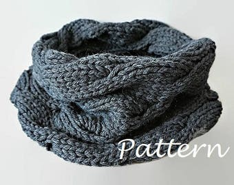 KNITTING PATTERN Knit Infinity Scarf Pattern Eternity Scarf Knitting Pattern Knitting Circle Scarves Pattern