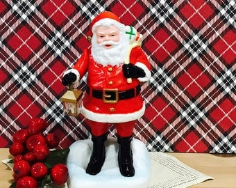 Vintage 1979 Plastic Santa with Lantern Made by Radiant
