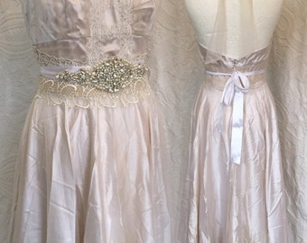 SALE , 30 % Vintage inspired wedding dress .Alternative wedding, Vintage wedding gowns, Fairy dresses .