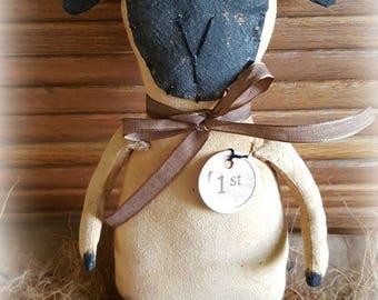 Prize Sheep Epattern Cupboard Tuck Folkart Doll