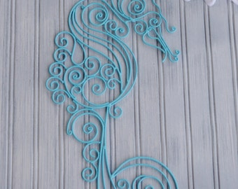 Seahorse Decor. Seahorse Wall Decor. Coastal Decor. Beach Decor. Nautical Decor. Sea Horse Art. Nursery Decor. Bathroom Decor. Seahorse