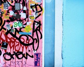 Blue Pink Photo, NYC Graffiti, Brooklyn Wall Art, Graffiti Art, New York Art, Small Wall Art, New York Streets, Street Photography, NYC Art
