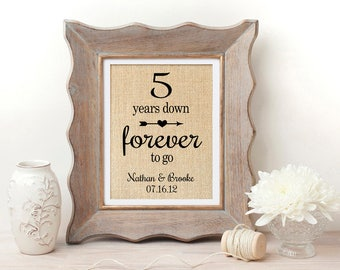... 5th Wedding Anniversary Gift 5th Anniversary Gift for Him 5 Years