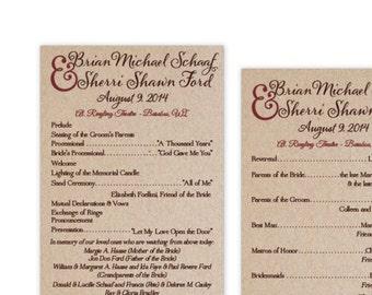 Wedding Program #33