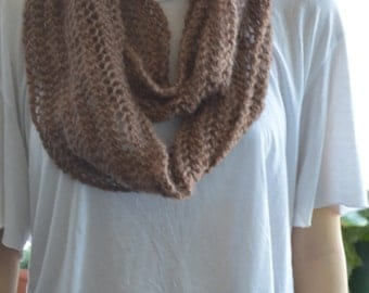crochet lace mohair blend infinity scarf