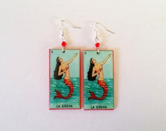 La Sirena earrings- la loteria earrings, sirena earrings, la loteria