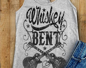 Whiskey Bent Racerback Tank. Music Festival Tank. Whiskey Shirt. Whiskey Gifts. Drinking Shirt. Whiskey Shirts. Whiskey Tank.