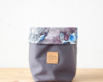 LIMITED EDITION - Storage Basket - Makeup Storage, Soft Fabric Bin, Gift Basket, Organic Cotton, Home Decor, Desk Storage