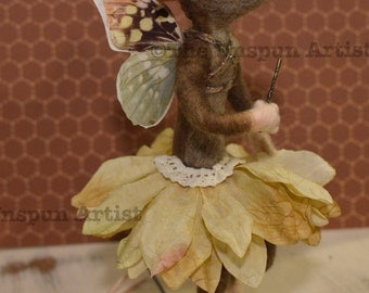 The Little Rat Fairy - Needle felted sculpture