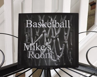 Kids Basketball Gift | Basketball Sign | Personalized Basketball Sign | Sports Decor | Basketball Decor | Boys Basketball Bedroom Decor