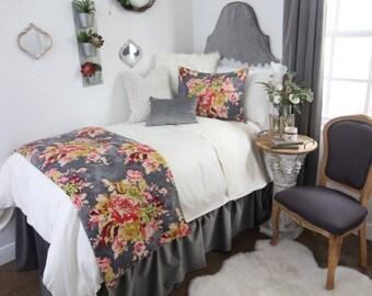 Grey Velvet Dorm Room Extended Length 34 Part 5