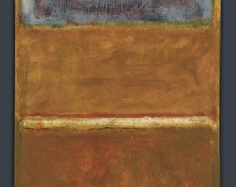 Mark Rothko Color Study: No.16(?) Untitled; 1950 - upside down; 16x20 acrylic paint on canvas