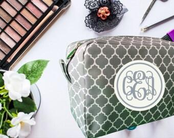 Cosmetic Bag, Makeup Bag, Personalized Makeup Bag, Bridesmaid Gift, Birthday Gift, Monogrammed Makeup Bag, Mother's Day Gift, Toiletry Bag