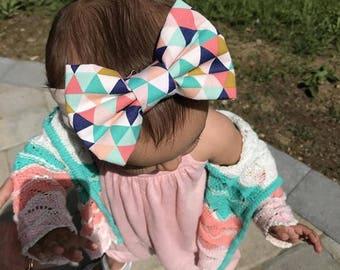Baby Turban headband | Kaleidoscope Print