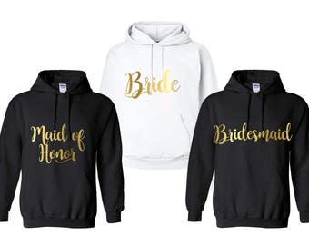 Bridesmaid hoodies, Bridesmaid sweatshirts, Bachelorette Party sweatshirts, Bachelorette Hoodies, Bridal Party Hoodies, Monogrammed Hoodies