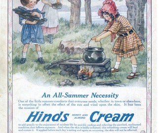 Vintage Vogue ads for fashion & perfumes / Hinds Honey and Almond Cream - PD002153