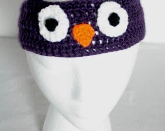 Infants's Crochet Happy Owl Headband