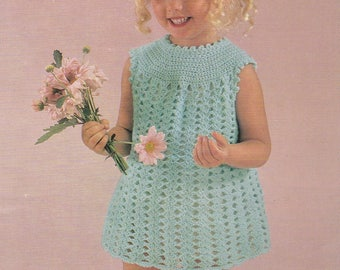 PDF crochet dress girl's vintage crochet pattern pdf INSTANT download pattern only pdf 1970s