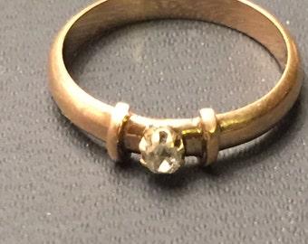 A Victorian Gold Diamond Set Ring