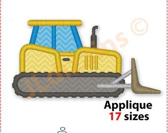 Bulldozer Applique Design. Bulldozer embroidery design. Dozer applique design. Dozer embroidery design. Applique Machine embroidery design