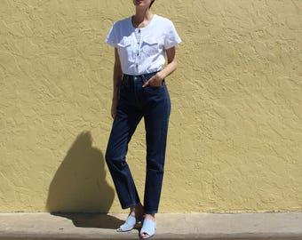 """Levi's 501 Jeans Size 26, Levi's Button Front 501 Jeans size 26"""", Levi's Jeans, Dark Wash Levis Jeans, 26 Mom Jean Dark Wash Stock 414172"""