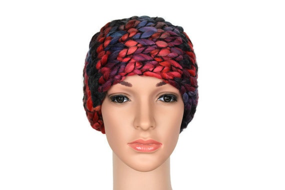Boho Girls Headwrap Wool Head Warmer Headband Knit Winter Warm Wool Headband Wide Boho Headband Christmas Gift for Her Stocking Stuffer