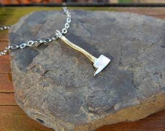 Fire Axe Pendant Jewelry Silver & Copper