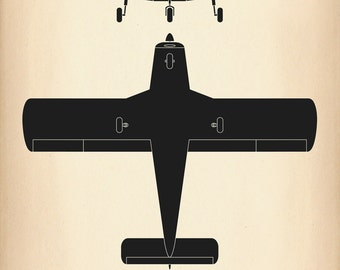 Piper PA-28 Cherokee Aircraft Recognition Poster