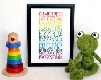 Nursery Decor, Nursery Wall Art, Typography Art, Children's Bedroom, Inspirational Print, Encouraging Print, Positive Quote, Toddler Bedroom