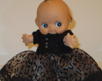 "8"" Kewpie Doll in Petticoat Dress- Vintage"