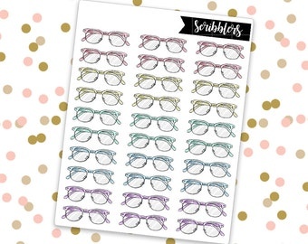 Glasses // Limited Edition [24HR ONLY] (Glossy Planner Stickers)