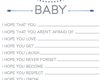 Wishes For Baby Sheet