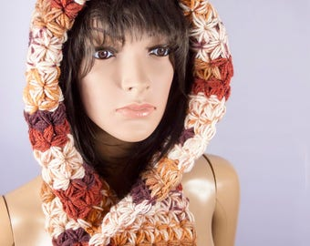 Hooded Scarf, Chunky hooded scarf, Scoodie Scarf | 4765
