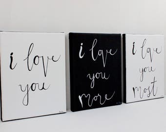 Love you more sign | Etsy