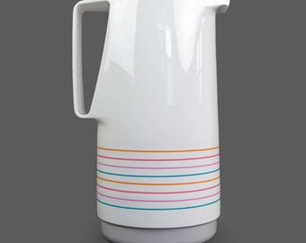 1980s Unused Patio Butler Coffee Carafe Thermos Pitcher 48 oz. Made In Western Germany Vintage Hot Cold Coffee Tea White Color