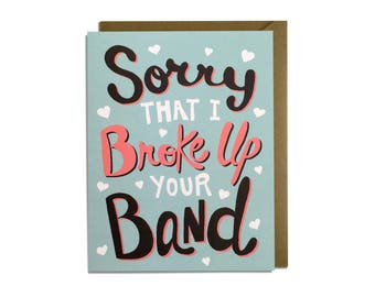 Funny Valentine Card - Love, Sarcastic, Anniversary, Valentines Day, Musician Band Guitar Singer Drummer Card
