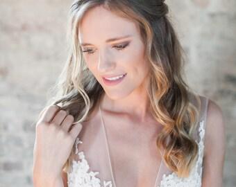 Bridal Crown, Flower Crown, Wedding Headpiece, Wedding Crown, Bridal Headpiece, Flower Headpiece, Floral Crown, Hairpiece-Style 309- Beverly