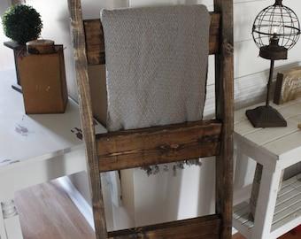 Blanket ladder - wood ladder - farmhouse decor- wood decor