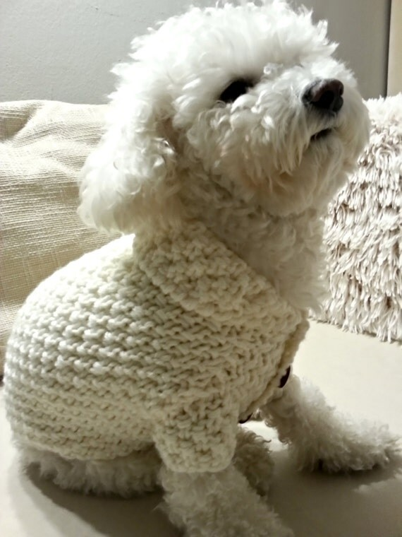 Knitting Dog Clothes : Knitted dog sweater clothes pet clothing top